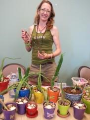 Bronwen Sims gathered nifty healing plants and made inspiring pots.